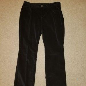Black Curvy Bootcut Velvet Pants